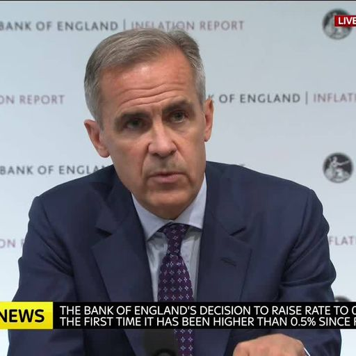 This is why interest rates have been raised by the Bank of England
