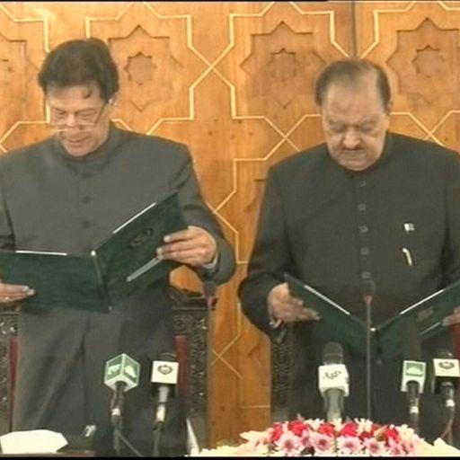 Cricket legend Imran Khan sworn in as Pakistan PM