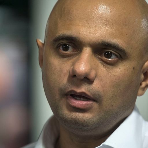 Javid defends 'Asian' paedophiles tweet