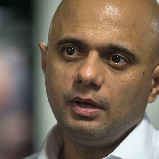 Javid defends 'Asian' paedophiles tweet
