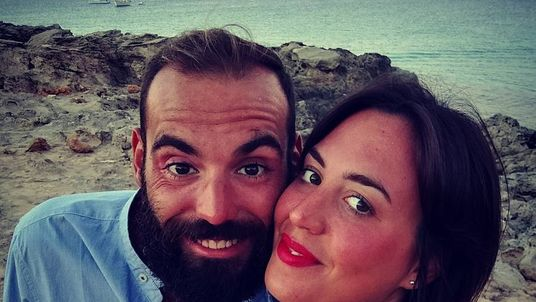 Giulia Organo (R) and Gianluca Ardini are to become parents in September. Pic: Gianluca Ardini/Facebook