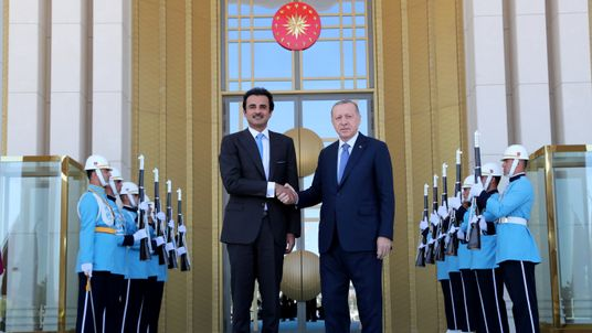 Turkish President Erdogan meets with Emir of Qatar Sheikh Tamim bin Hamad al-Thani in Ankara