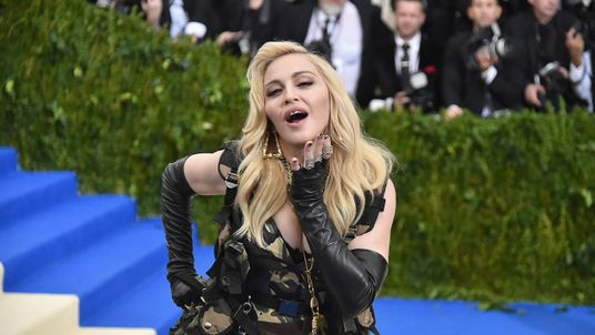 NEW YORK, NY - MAY 01: Madonna attends the 'Rei Kawakubo/Comme des Garcons: Art Of The In-Between' Costume Institute Gala at Metropolitan Museum of Art on May 1, 2017 in New York City. (Photo by Mike Coppola/Getty Images for People.com)