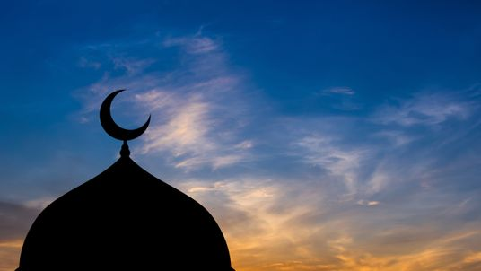 Mosque in sunset