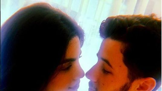 Priyanka Chopra and Nick Jonas confirm their engagement. Pic: Instagram/NickJonas
