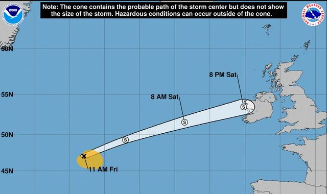 Storm Ernesto on course for the UK and Ireland this weekend - Signal 107