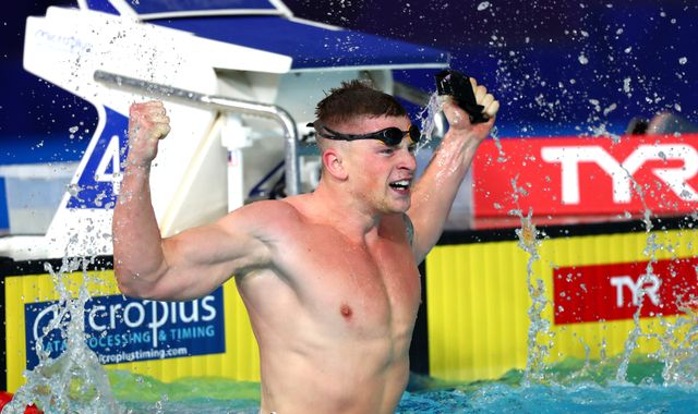 Adam Peaty breaks 100m breaststroke world record