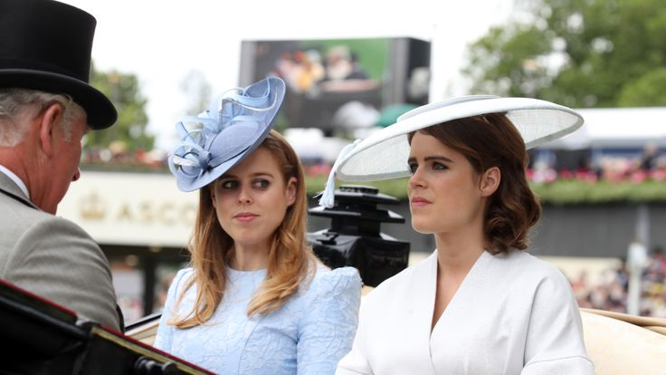Eugenie wears a structured Osman dress to Royal Ascot