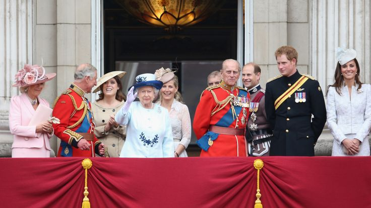 The royal family watch Trooping the Colour from the Palace balcony