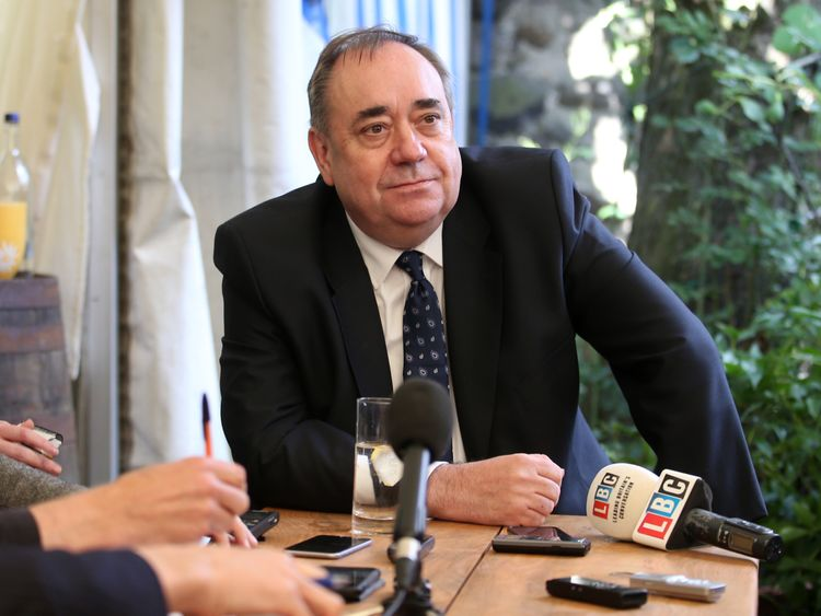 The former first minister of Scotland Alex Salmond