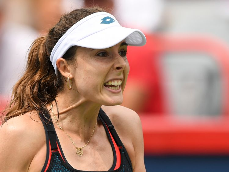 French tennis star Alize Cornet was penalised for flashing her sports bra on court at the US Open