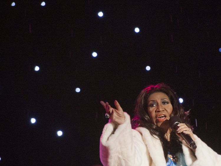 Aretha Franklin - the Queen of Soul - performing in Washington in 2013