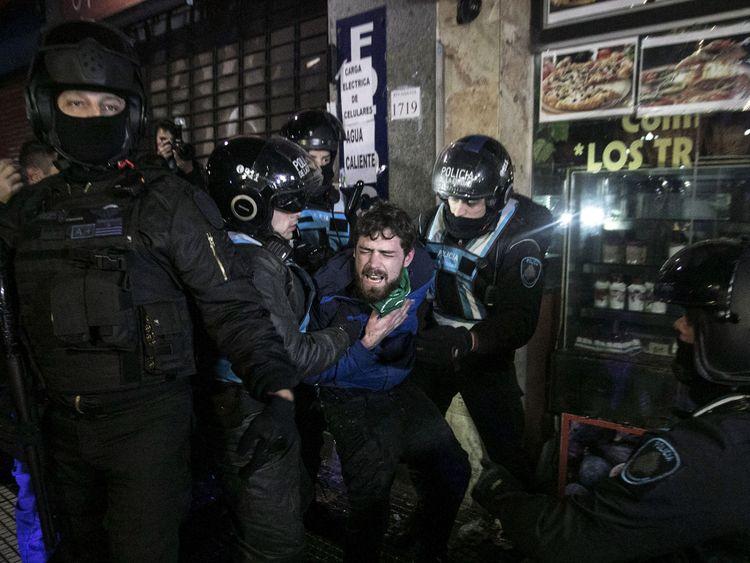 Police arrested some pro-life demonstrators as violence broke out