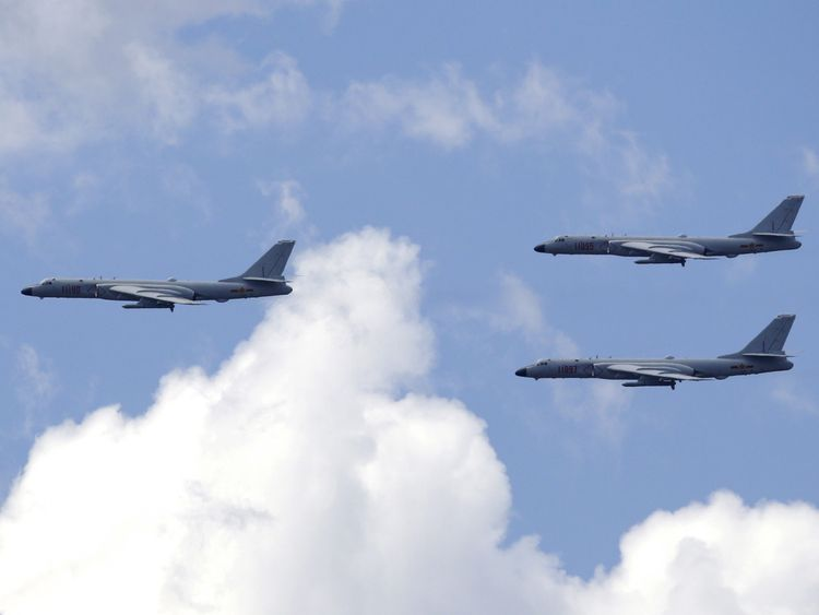The Chinese Air Force's B-6k strategic bomber aircraft
