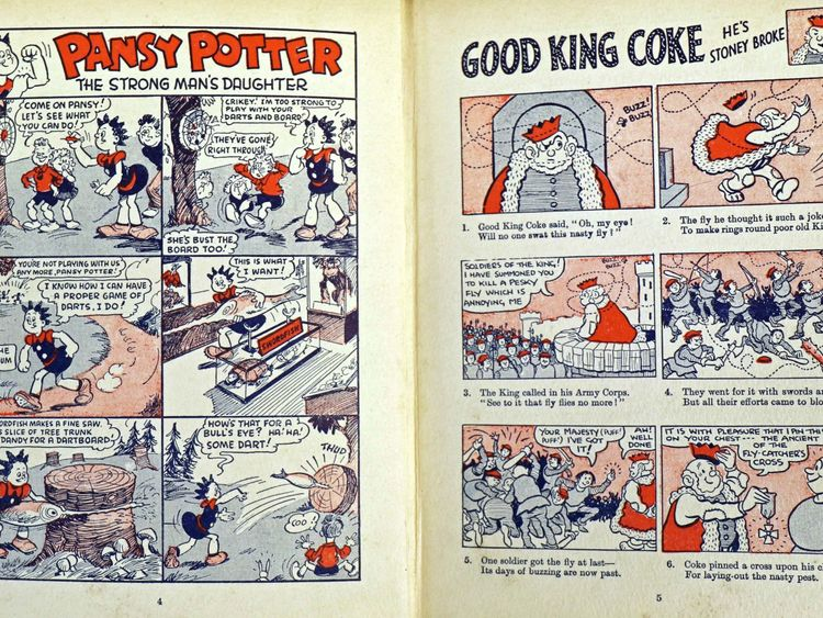 A spread from the first ever Beano Annual, which dates from 1939