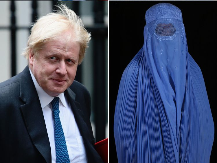 Boris Johnson compared women in burkas to 'bank robbers'