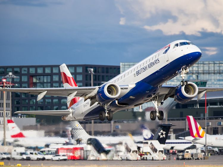 The Pathak family and another Indian family were flying from London City Airport to Berlin