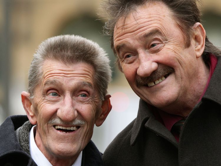 The Chuckle Brothers, Barry (left) and Paul Elliott