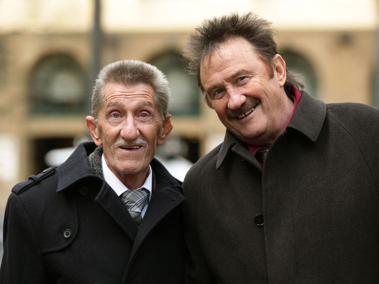 Stars and fans say last goodbye at Barry Chuckle funeral