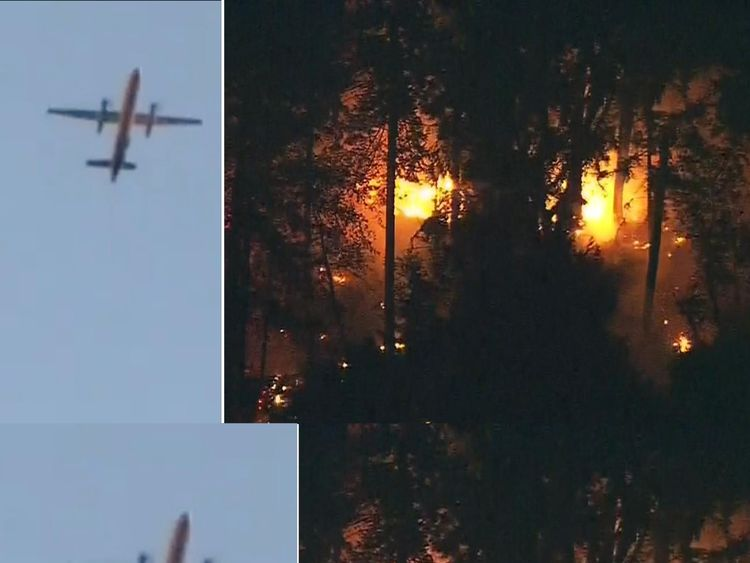 The stolen plane has crashed near Ketron Island in Pierce County, Washington