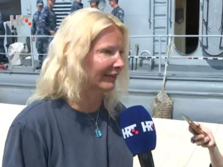 British woman saved after falling off cruise ship