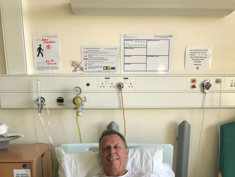 Alan Thompson had two stents fitted