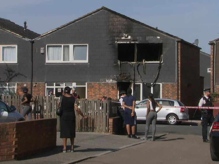 A seven-year-old boy has died in a house fire in southeast London which police are treating as suspicious.