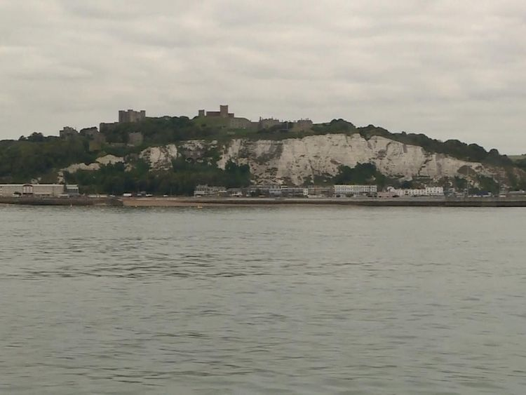 The team has been relieved to have the white cliffs in sight