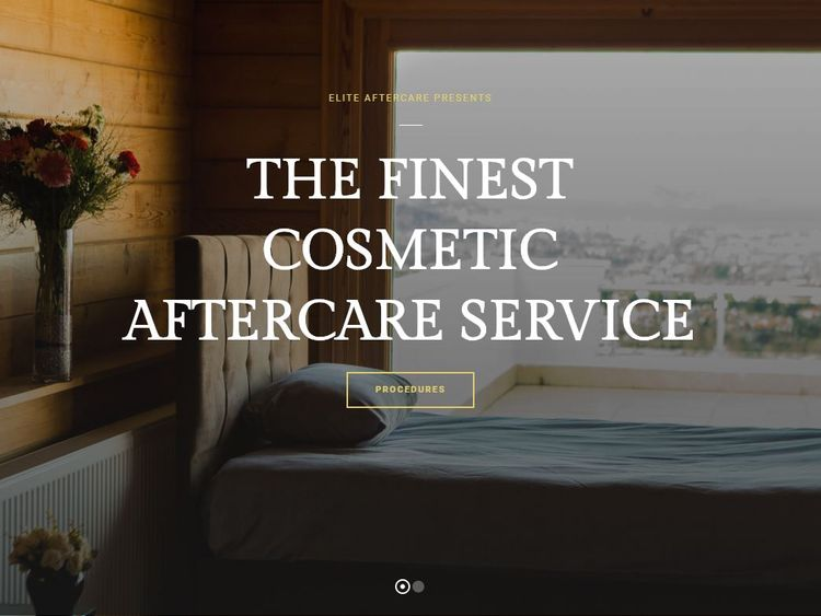 The Elite Aftercare website says it offers 'the finest cosmetic aftercare service. Pic: Elite Aftercare
