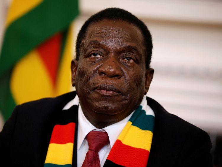 Zimbabwe's President Emmerson Mnangagwa