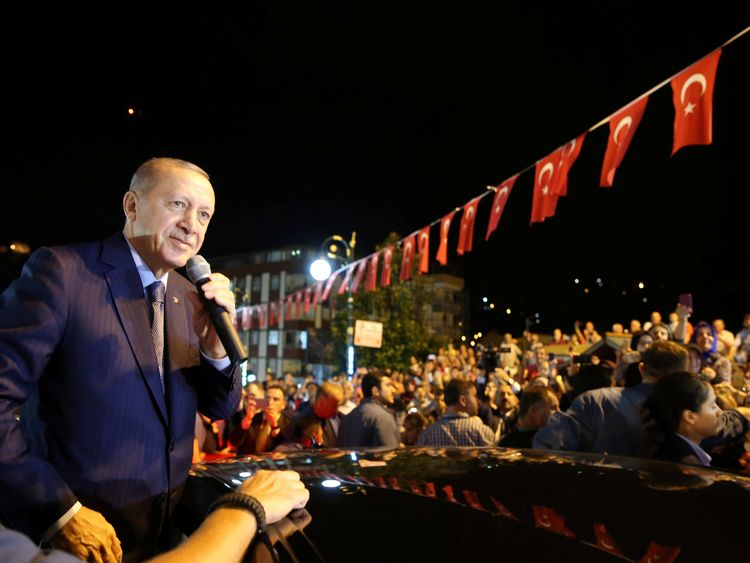 President Erdogan made his comments while addressing supporters in Rize