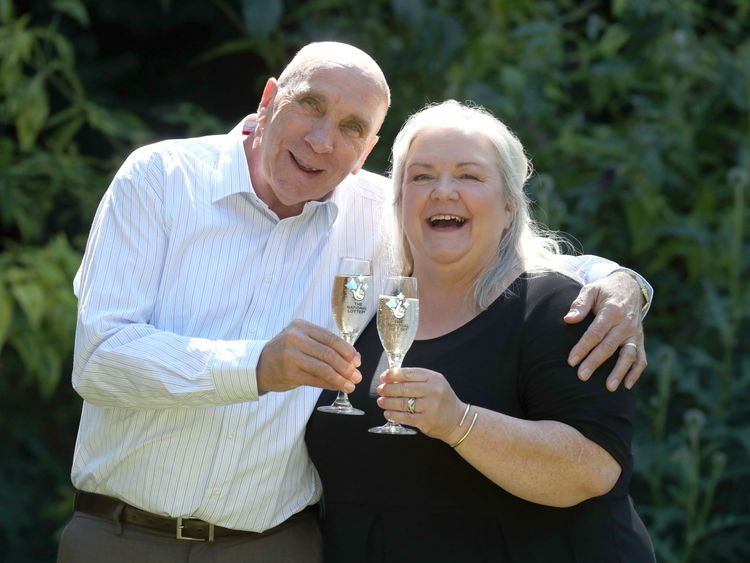 Fred and Lesley Higgins won nearly £59m on the EuroMillions