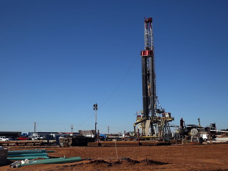 A fracking site in Midland, Texas