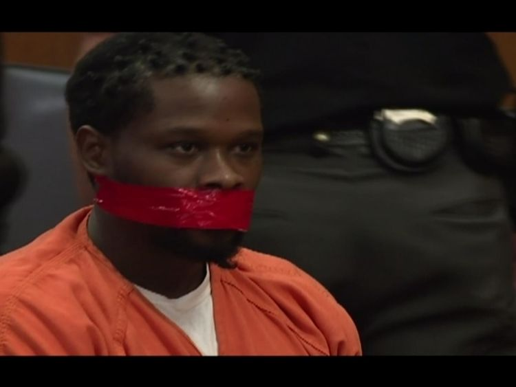 Judge orders man's mouth taped shut during sentencing