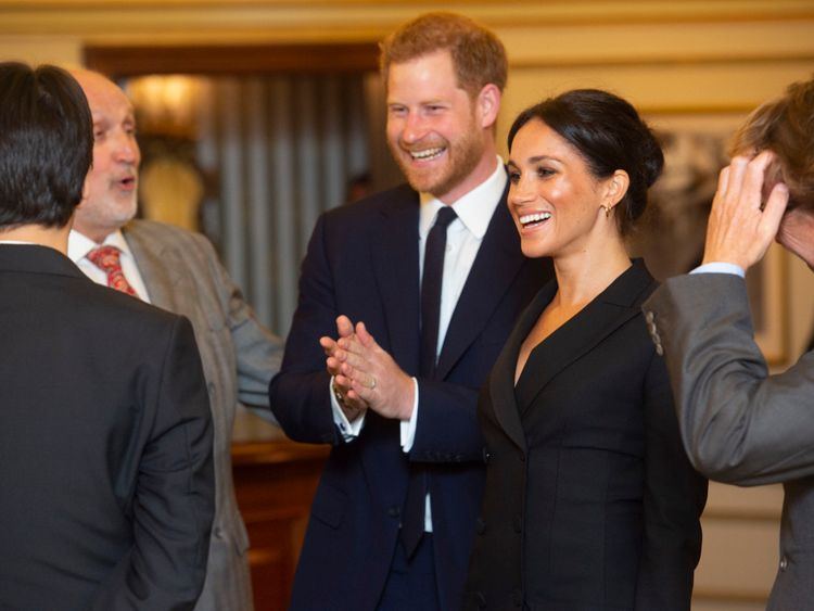 The Duke and Duchess of Sussex attended a charity performance of Hamilton