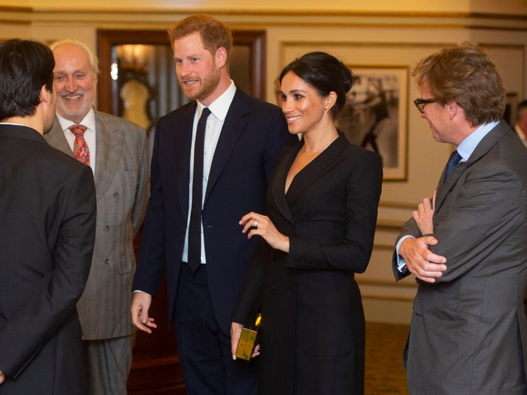 Prince Harry and his wife Meghan were guests of honour
