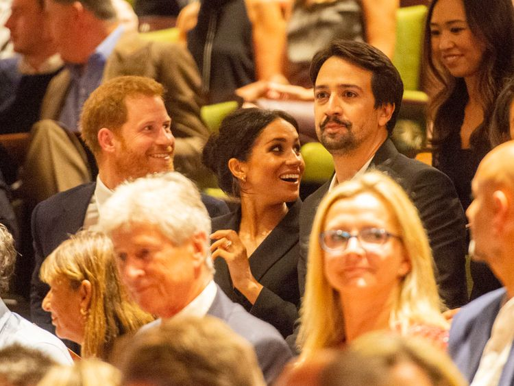 Harry and Meghan took their seats in the main auditorium rather than sitting in a box away from the audience