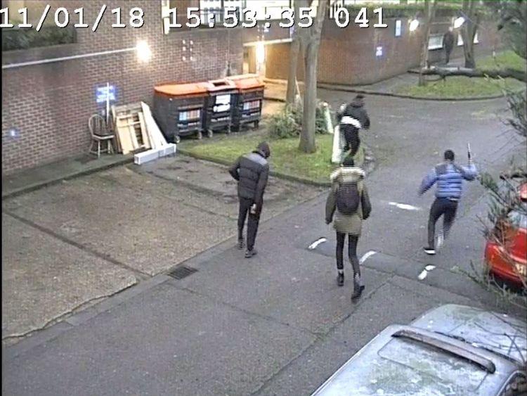 George Koh, Jonathan Okigbo and Merse Dikanda chasing Harry Uzoka