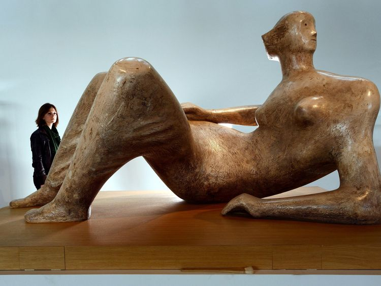 Reclining Figure Angels by Henry Moore