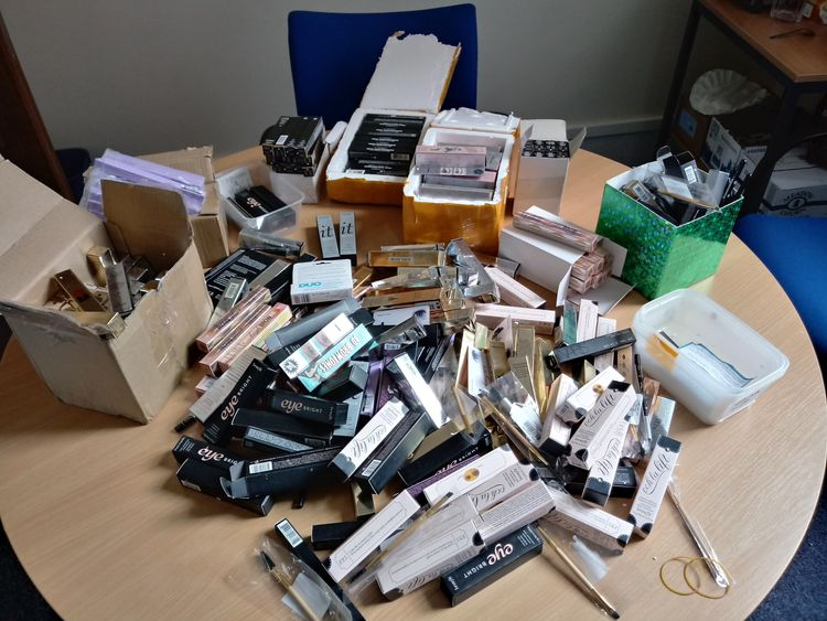 Illegal cosmetics seized by North East Lincolnshire Council