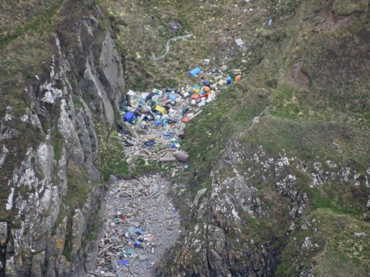 Some of the aerial images reveal more remote areas that rarely, or never, get litter-picked. Pic: SCRAPbook