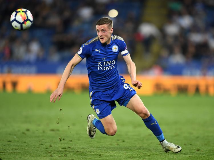 Jamie Vardy and Leicester open the season against Manchester United