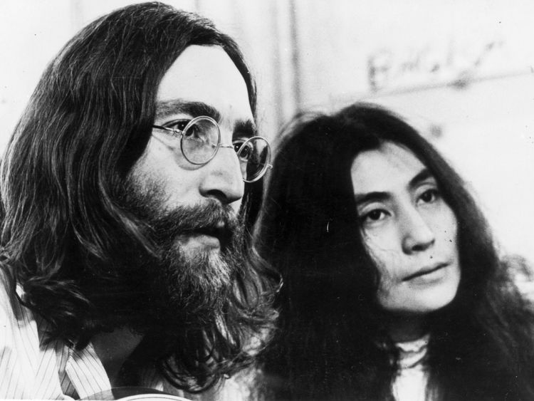 Lennon with Yoko Ono in the 1960s