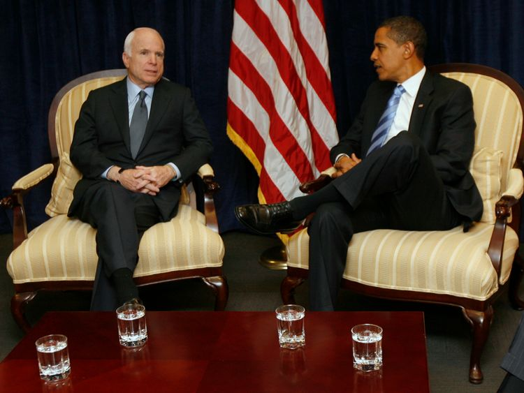 Mr McCain lost out to Barack Obama in the 2008 US election