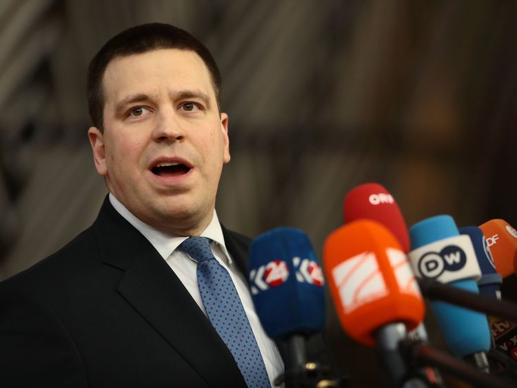 Estonia's Prime Minister Juri Ratas called the incident 'extremely regrettable'