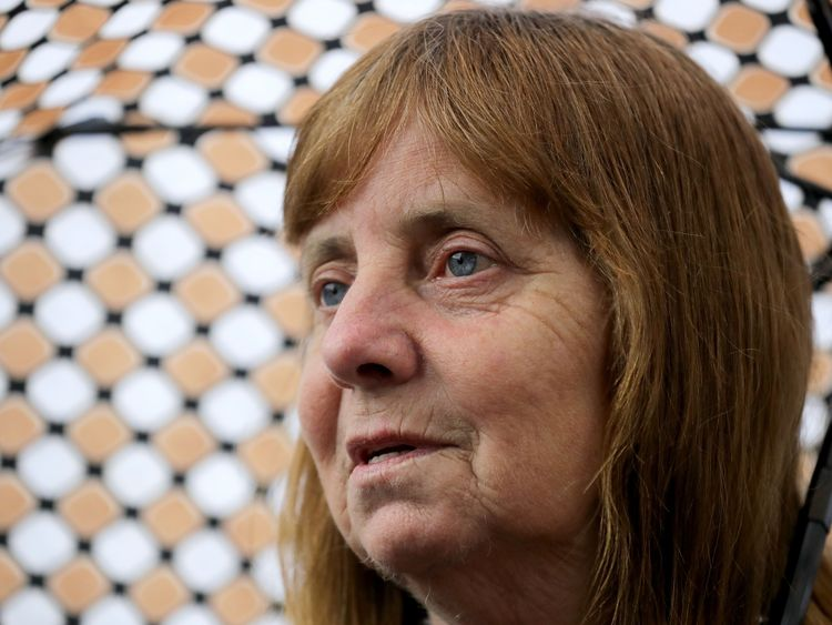 WARRINGTON, ENGLAND - JUNE 28: Margaret Aspinall of the Hillsborough Family Support Group addresses the media after the families of the 96 Hillsborough victims were told the decision that the Crown Prosecution Service will proceed with criminal charges and six people have been charged with criminal offences
