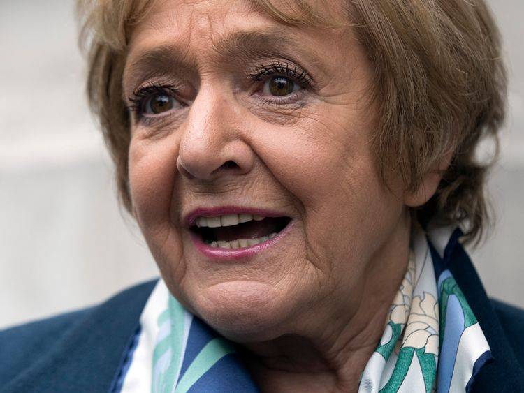 LONDON, ENGLAND - JULY 11: Labour MP Margaret Hodge arrives to attend a press conference held by former shadow business secretary Angela Eagle in which Eagle announced her intention to challenge Jeremy Corbyn for leadership pf the Labour Party, on July 11, 2016 in London, England. Mr Corbyn has faced numerous frontbench resignations, but has said he would not betray the party members, who elected him last year, by standing down. (Photo by Carl Court/Getty Images)