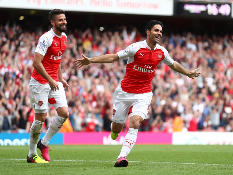 Mikel Arteta was among those who joined Arsenal in a late trolley-dash in 2011