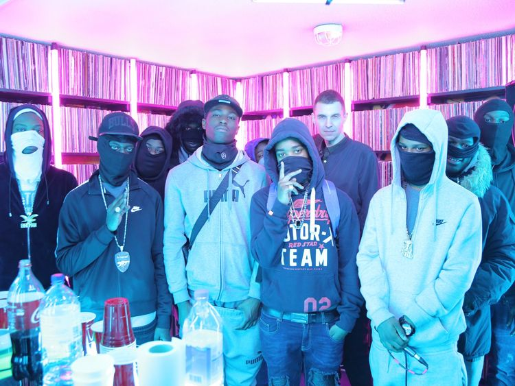 Members of the Moscow17 group with DJ Tim Westwood in 2017