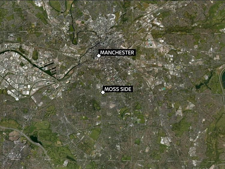 Moss Side is about two miles out of Manchester city centre